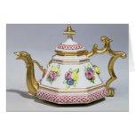 Meissen octagonal teapot, c.1718 greeting card