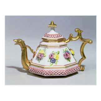 Meissen octagonal teapot, c.1718 postcard