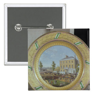 Meissen plate, decorated with a scene of button