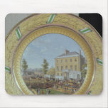 Meissen plate, decorated with a scene of mouse pad
