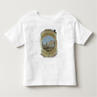 Meissen plate, decorated with a scene of toddler t-shirt