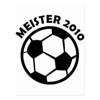 Meister 2010 Fußball Soccer Meister Postcard