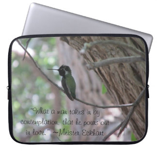 Meister Eckhart Contemplation Love Quote Laptop Sleeve
