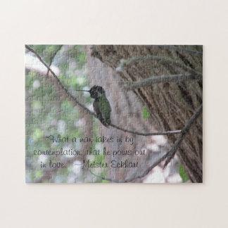 Meister Eckhart Contemplation Quote Hummingbird Jigsaw Puzzle