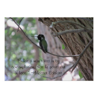 Meister Eckhart Contemplation Quote Poster