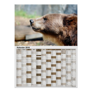 Meister Petz / calendar 2016 Poster