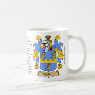 Meister, the Origin, the Meaning and the Crest Coffee Mug