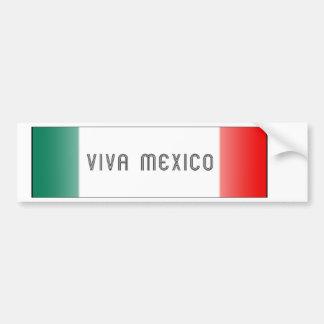 Mejico Flag Car Bumper Sticker