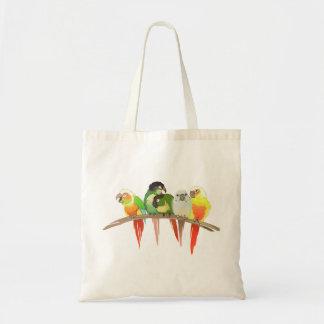 Mejilla verde Conures Bolsa Tela Barata