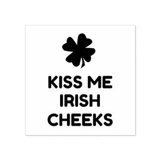 Mejillas irlandesas sello de caucho