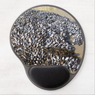 Mejillones en la ensenada alfombrillas de ratón con gel