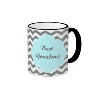 mejor abuela moderna del galón gris blanco tazas
