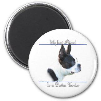 Mejor amigo 2 de Boston Terrier - imán