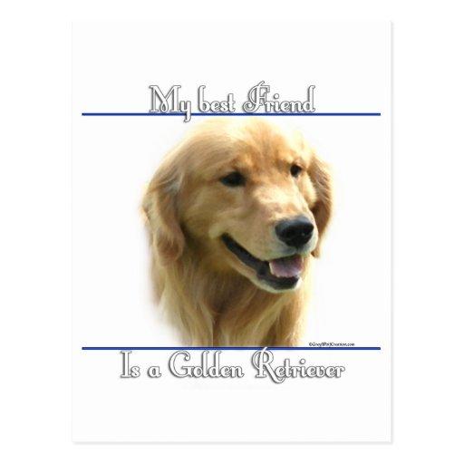 Mejor amigo 2 del golden retriever postal
