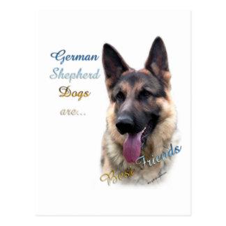 Mejor amigo 2 del perro de pastor alemán postal