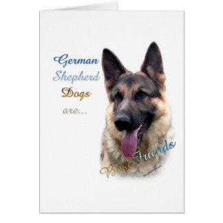 Mejor amigo 2 del perro de pastor alemán tarjeta de felicitación