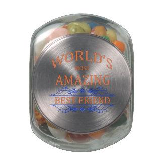 Mejor amigo asombroso frascos de cristal jelly belly
