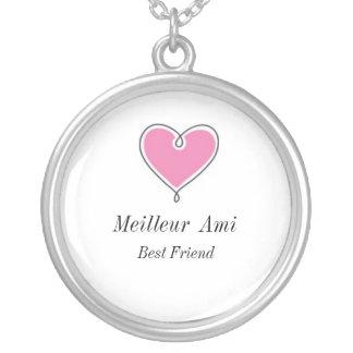 Mejor amigo: Collar del corazón del Ami de Meilleu
