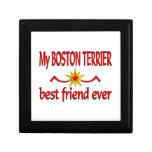 Mejor amigo de Boston Terrier Caja De Regalo