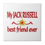 Mejor amigo de Jack Russell Azulejo Cerámica