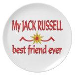 Mejor amigo de Jack Russell Plato Para Fiesta