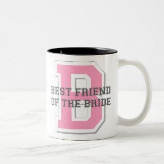 Mejor amigo de la alegría de la novia tazas de café