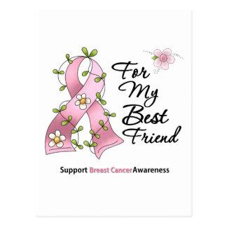 Mejor amigo de la ayuda del cáncer de pecho tarjeta postal