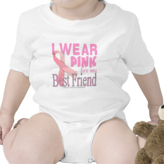 Mejor amigo de la conciencia del cáncer de pecho trajes de bebé