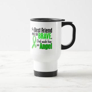 Mejor amigo de la distrofia muscular del ángel 1 ( taza de viaje de acero inoxidable