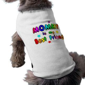 Mejor amigo de la mamá playera sin mangas para perro