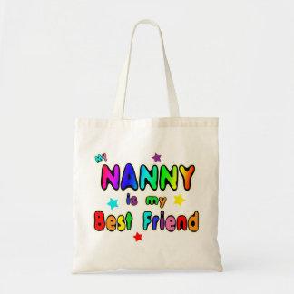 Mejor amigo de la niñera bolsa tela barata