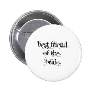 Mejor amigo de la novia pin