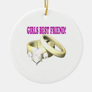 Mejor amigo de los chicas ornamentos para reyes magos