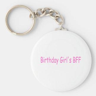 Mejor amigo de los chicas del cumpleaños llavero redondo tipo pin