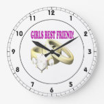 Mejor amigo de los chicas reloj de pared