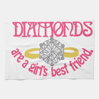 Mejor amigo de los chicas toallas de mano