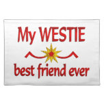 Mejor amigo de Westie Mantel Individual
