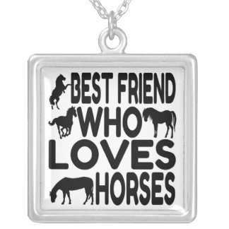 Mejor amigo del amante del caballo colgante cuadrado
