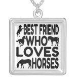 Mejor amigo del amante del caballo grímpola