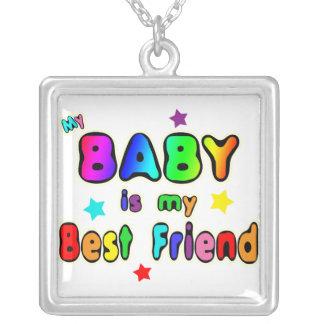 Mejor amigo del bebé colgante cuadrado