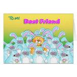 mejor amigo del conejito del comedor tarjetas