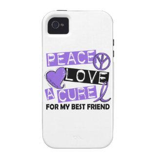 Mejor amigo del linfoma de la curación H del amor Vibe iPhone 4 Funda