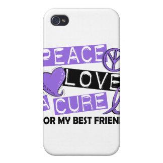 Mejor amigo del linfoma de la curación H del amor iPhone 4 Coberturas