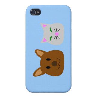 Mejor amigo del perro y del gato iPhone 4 protectores