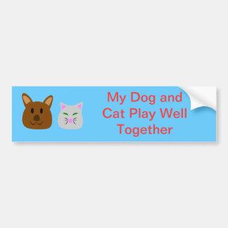 Mejor amigo del perro y del gato pegatina para auto