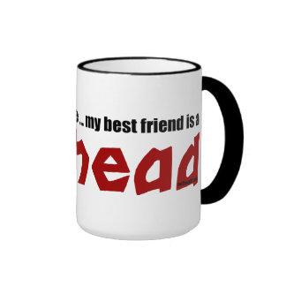 Mejor amigo del Redhead Taza De Dos Colores