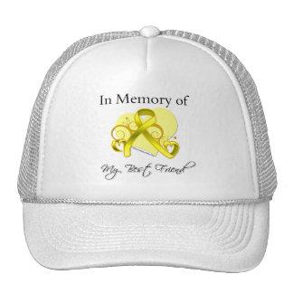 Mejor amigo - en memoria del tributo militar gorras