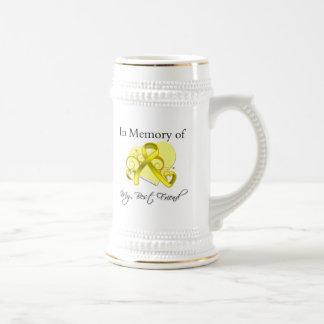 Mejor amigo - en memoria del tributo militar jarra de cerveza