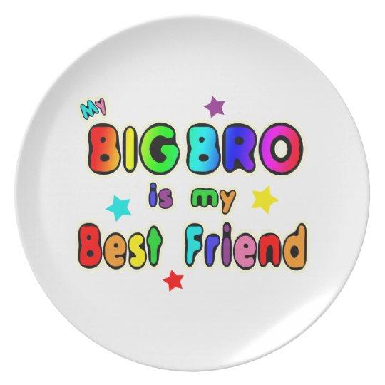 Mejor amigo grande de Bro Plato De Comida
