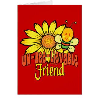 Mejor amigo increíble tarjeta de felicitación